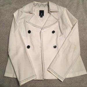 Nautica White & Navy Pea Coat